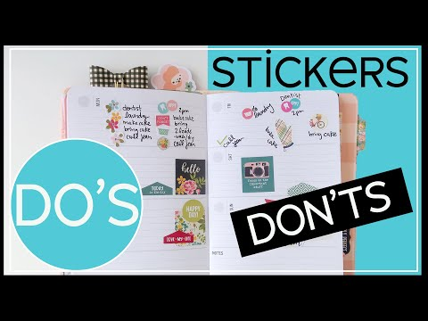 Planner Stickers | How to Use Them so Your Planner Looks Fab Every Time