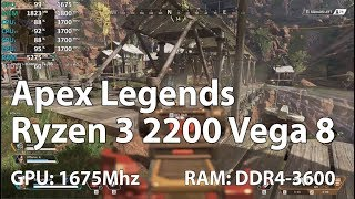 Apex Legends on AMD Ryzen 3 2200G Vega 8 OC (Retest) - Gameplay Benchmark Test