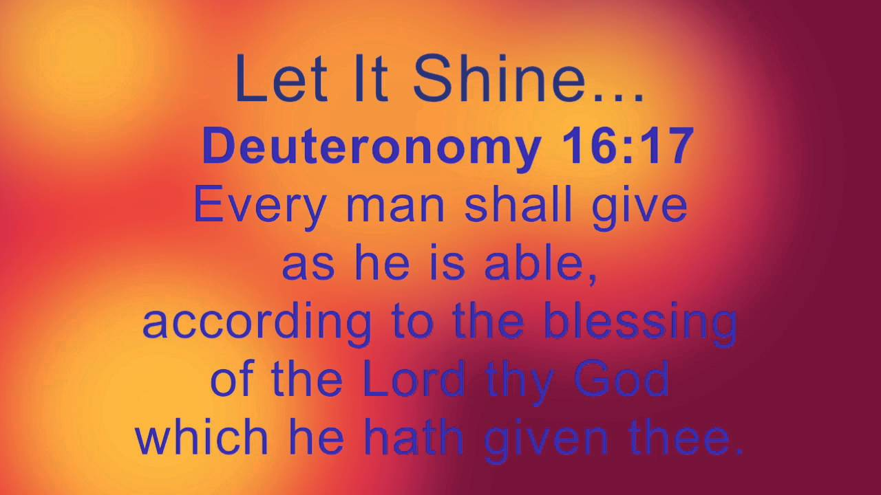 Related Commentaries for Deuteronomy 16