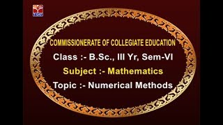 CCE || Mathematics - Numerical Methods || LIVE With E.Komuraiah