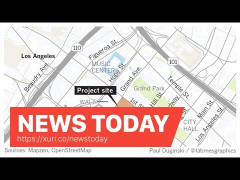News Today - Architect Frank Gehry Unveils design for the long-delayed project on Grand Avenue-LA T