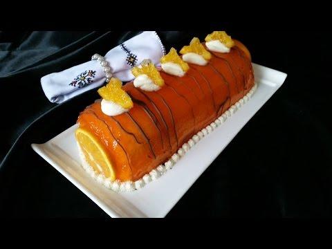 orange-swiss-roll-cake---كيك-السويسرول-الرائع-بالكريمة-و-البرتقال---gateau-roulé-aux-oranges