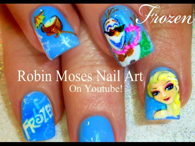 Elsa and Olaf Nail Art - 7 Disney Inspired Nail Designs That Are…