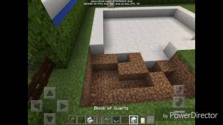 Maincraft pocket edition how to make swimming pool