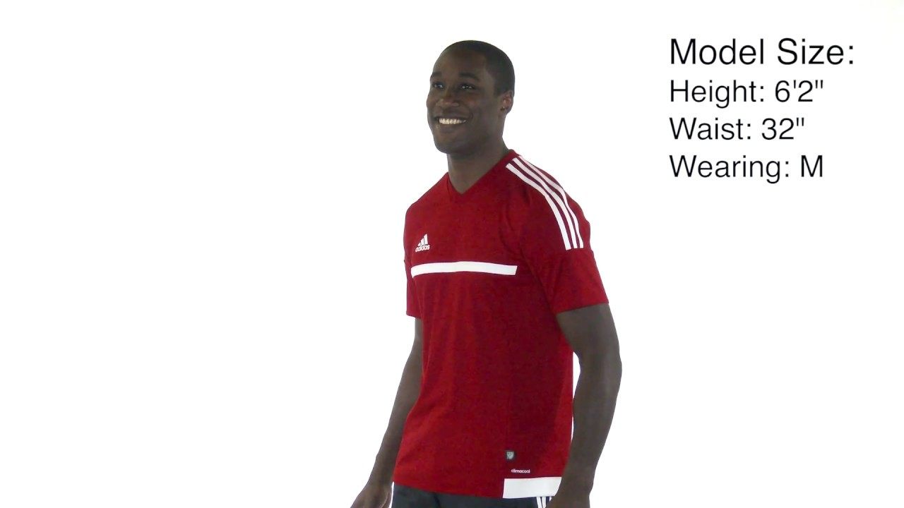 88a29656fac2 adidas Mens MLS 15 Match Jersey on Model - YouTube