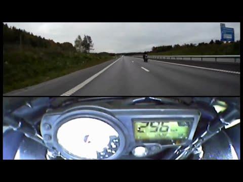 高速道路でスピード354㎞を出す ターボハヤブサ  ゴーストライダー
