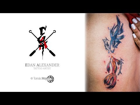Tattoo Timelapse  Peces Orientales
