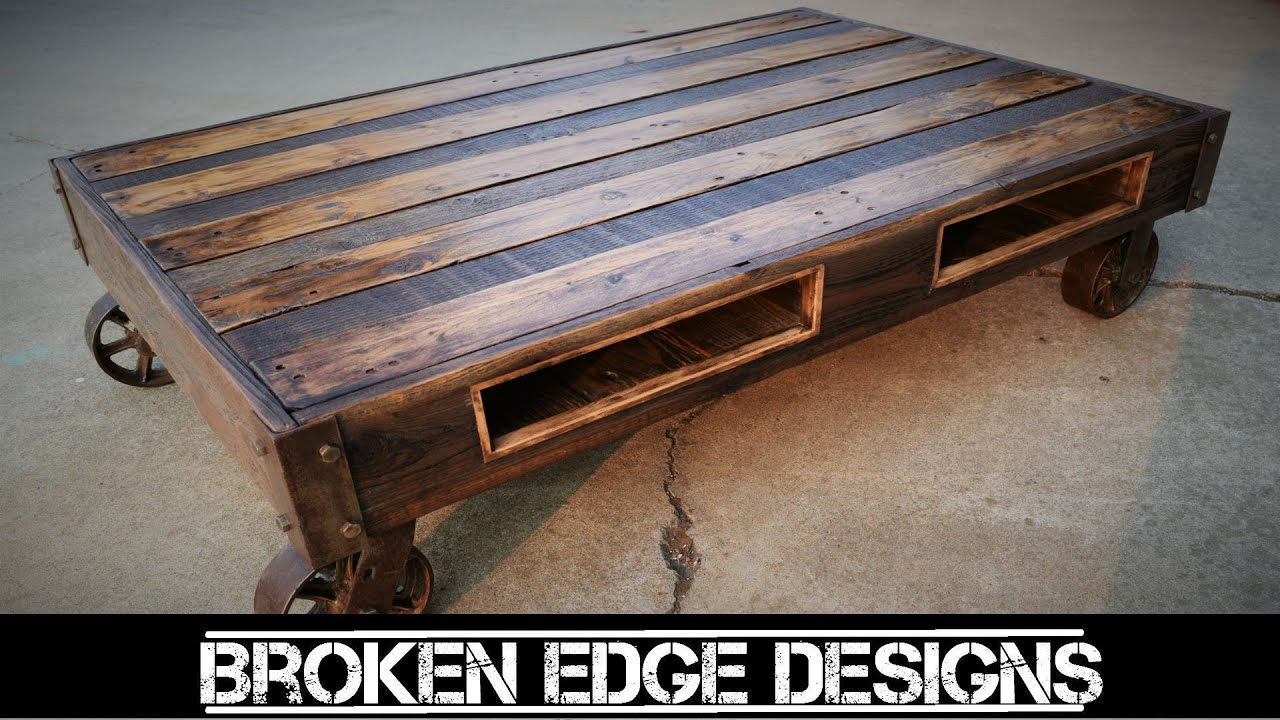 Pallet furniture coffee table - Pallet Wood Coffee Table