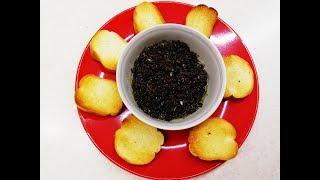 Чёрная тапенада/ Паста из оливок/ Намазка из маслин