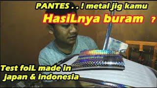 Test hot stamping foil JAPAN  VS indonesia / perbandingan menentukan yang lebih baik !