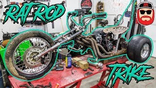 125cc V8 Header Rat Rod Mini Trike Build Ep 3