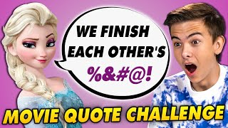Can YOU Finish The Movie Quote CHALLENGE! | Do Teens Know It?