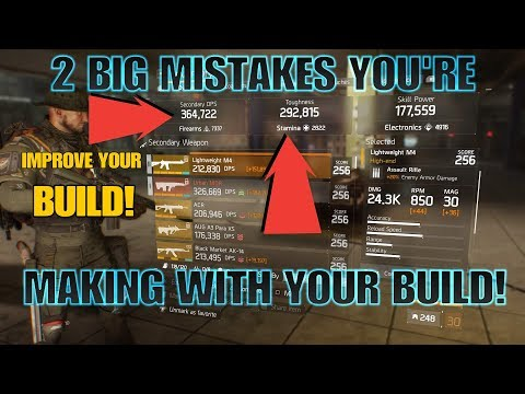 The Division TWO THINGS WRONG WITH YOUR BUILD!!