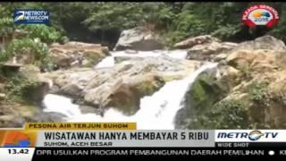 Air Terjun Suhom Yang Banjir Pengunjung Saat Liburan Di Aceh Aceh