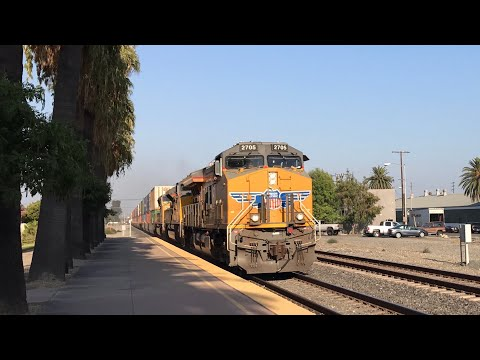 Endless Union Pacific & BNSF Trains at Ontario & Colton California