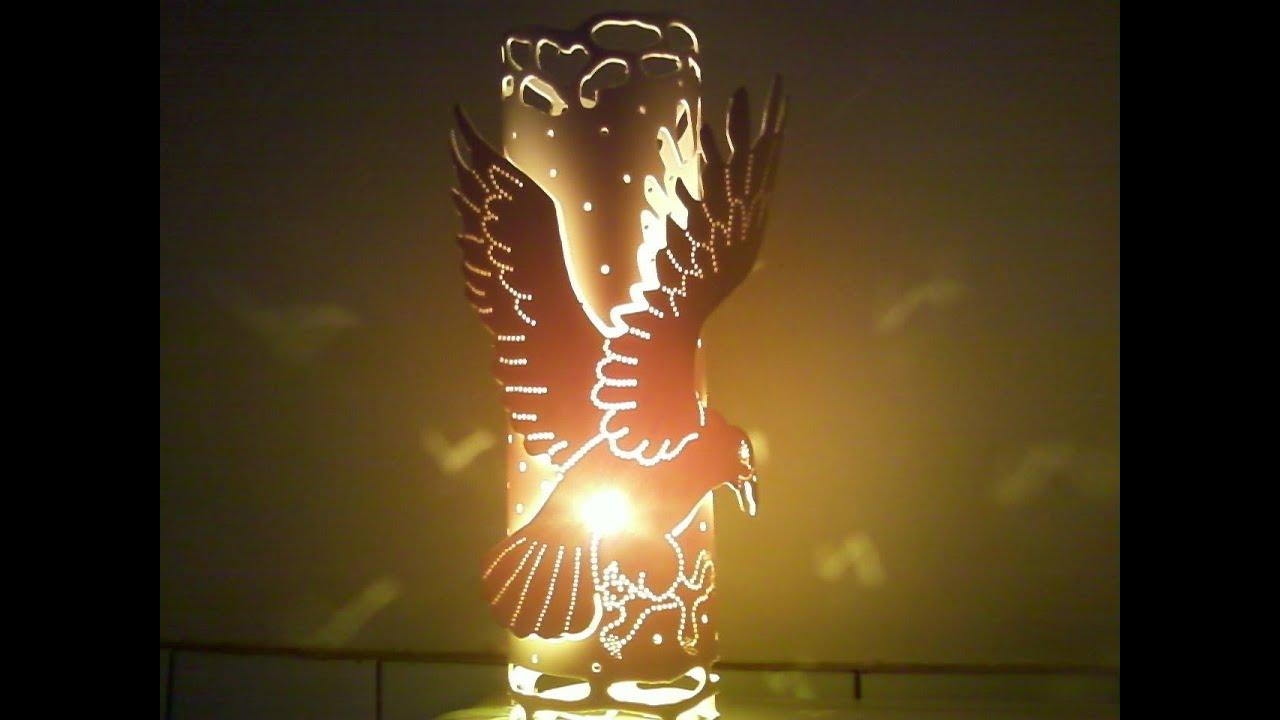 Artesanato Com Garrafa Pet Para Pascoa ~ Luminária de PVC daÁquia YouTube