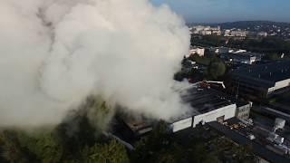 Incendie de Chelles du 22/9/2017 - 24h après ça brule encore - Pompiers à l'oeuvre
