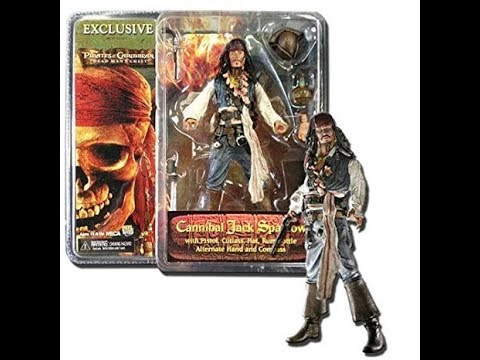 "NECA PIRATES of the Caribbean Dead Man Chest Capt Jack Sparrow 18/"" Action Figure"