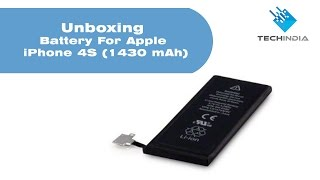 Unboxing Battery For Apple iPhone 4S (1430 mAh)