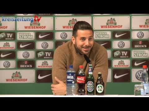Werder-Pressekonferenz mit Claudio Pizarro vor dem Bayern-Spiel