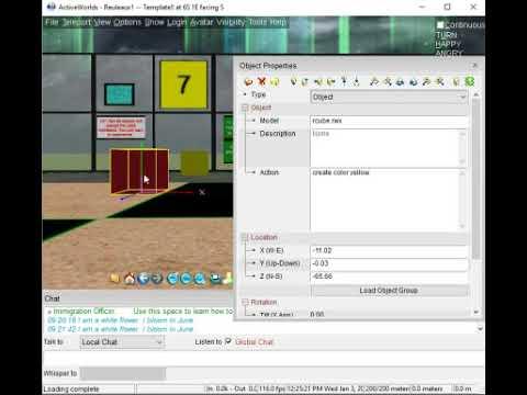 InWorld Tutorial Task 7 - Change Object Color