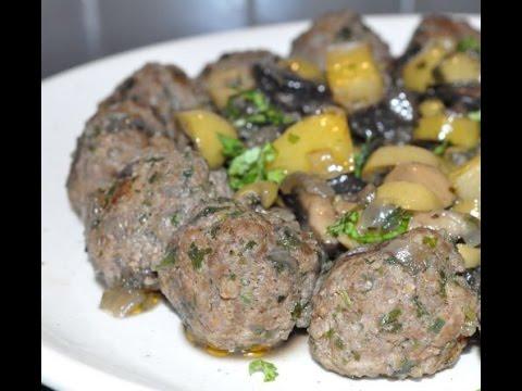 طاجين-زيتون-بكويرات-الكفتة-recette-tajine-de-viande-hachée-aux-olives
