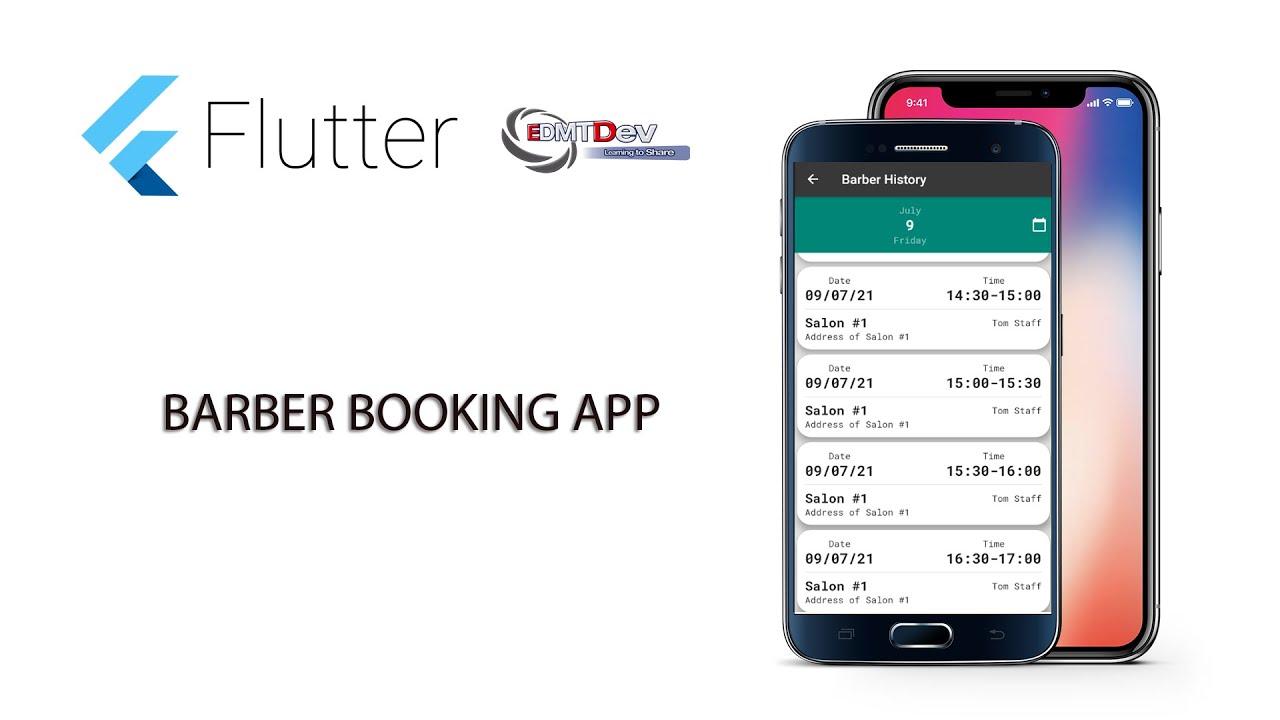 Flutter Tutorial - Barber Booking App #37 Display Barber History Screen
