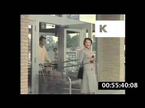 1940s 1950s USA Automatic Supermarket Door Woman Shopper & 1940s 1950s USA Automatic Supermarket Door Woman Shopper - YouTube