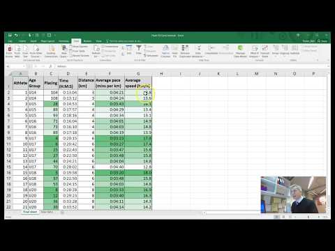 EXCEL TUTORIAL creating a pace / speed athletics spreadsheet using FLASH FILL