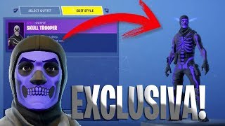 THE SKULL TROOPER MORADA*SECRETA*!! -HOW DO YOU GET IT!? -FORTNITE!