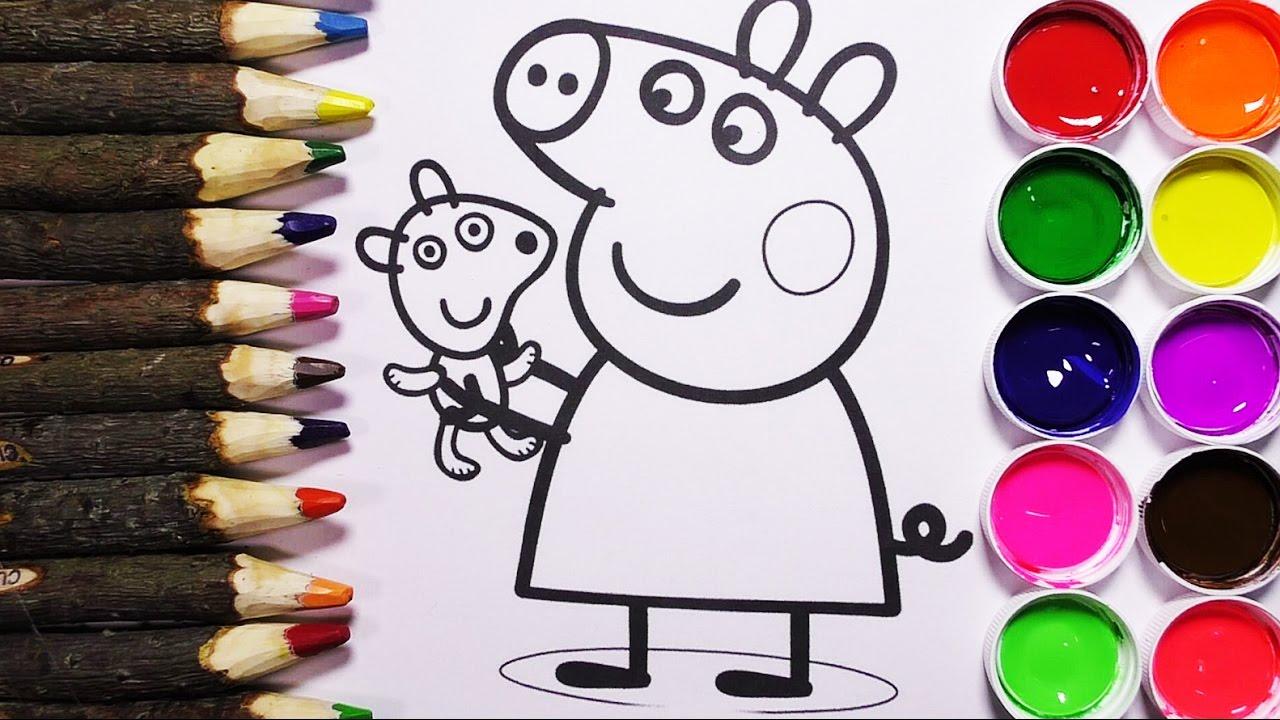 Dibujos Para Aprender A Colorear: Como Colorear A Peppa Pig