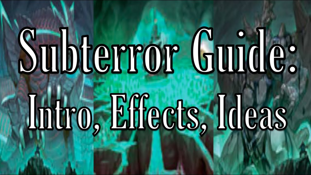 Subterror guide intro effects and ideas youtube for Youtube intro ideas