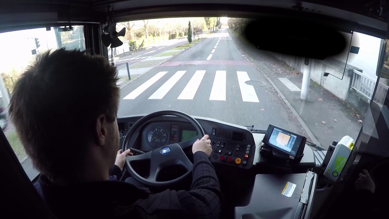 conduire un bus vue cockpit tiss o toulouse youtube. Black Bedroom Furniture Sets. Home Design Ideas
