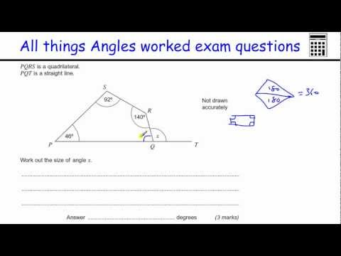 All things Angles GCSE Maths Foundation exam worked examples (triangles, parallel lines, polygons)