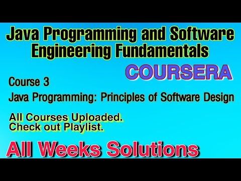 Course 3 Java Programming Arrays Lists And Structured Data Duke University Courseraanswer Youtube