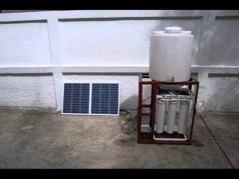 Big Solar Electric Water Filter - Operating