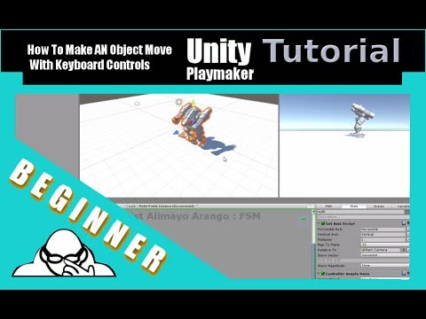 How To Have An Object Move With Keyboard Controls using Playmaker In Unity