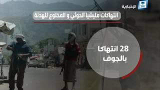 بيان الحكومة اليمنية بانتهاكات الحوثي والمخلوع للهدنة