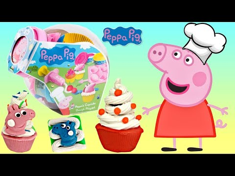 Nick Jr. PEPPA PIG Cupcake Decoration Play-doh Playset, Chef Bake George, Friends Mold Cutter TUYC