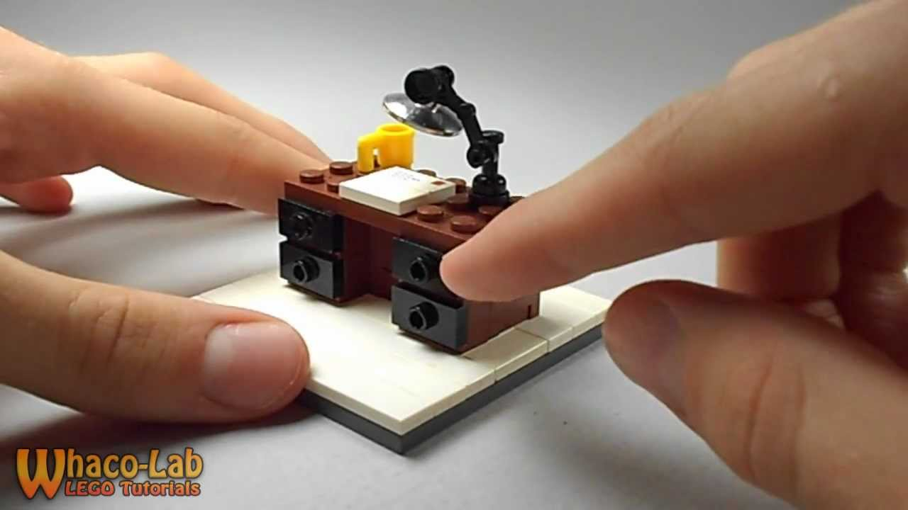 LEGO TUTORIAL | How To Build a Desk - YouTube