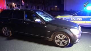 Fußgänger schwer verletzt bei schwerem Verkehrsunfall in Hagen