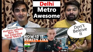Delhi Metro Rail | India World Class Train | Pakistani Reaction On India