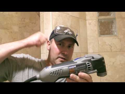 Grout Removal with a Dremel Oscillating Tool