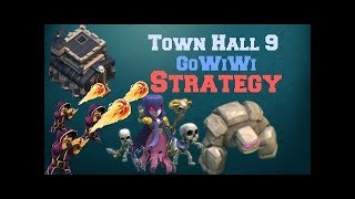 Clash of Clans: OLD IS GOLD. GOWIWI TH9 3* attack against TH9 with low level heroes