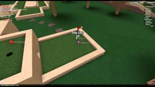 [I WIN 1ST!] Mini Golf- ROBLOX Let's Play #7 w/ Friends Commentary HD