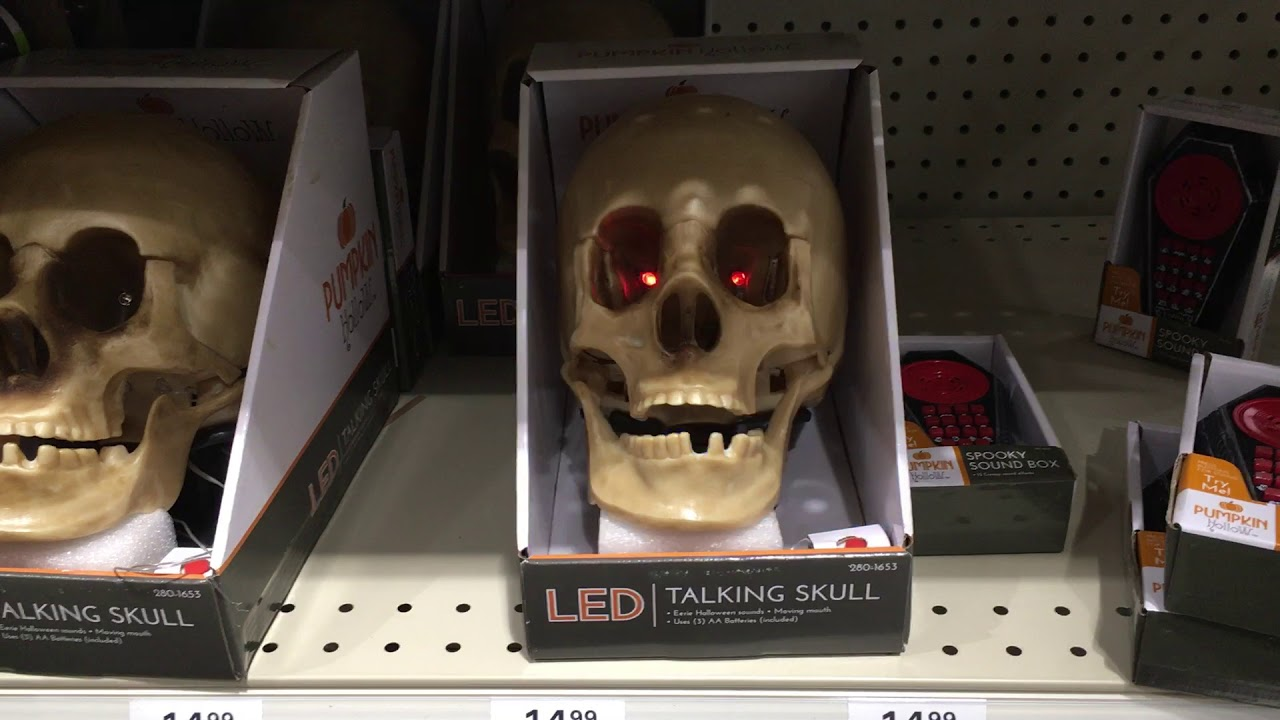 menards halloween 2017 animated talking skull - Talking Skull Halloween