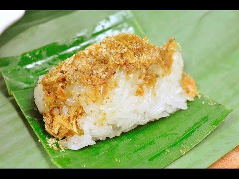 ข้าวเหนียวหน้าปลาแห้ง Sweet Sticky Rice with Dried Fish