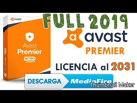 AVAST PREMIER 2019 LICENCIA HASTA 2031 INSTALACION COMPLETA ANTIVIRUS 2019
