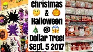 Omg CHRISTMAS at DOLLAR TREE! September 5, 2017 Holy crap! 🎄 + walmart!