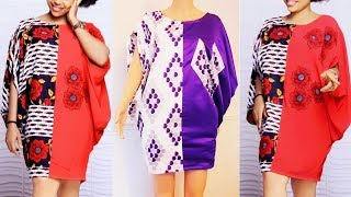 How to make a Kaftan dress [short gown] | kaftan top with African fabric | cutting and sewing